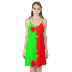 Critical Points Line Circle Red Green Camis Nightgown