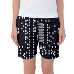 Circle Plaid Black White Women s Basketball Shorts by Mariart