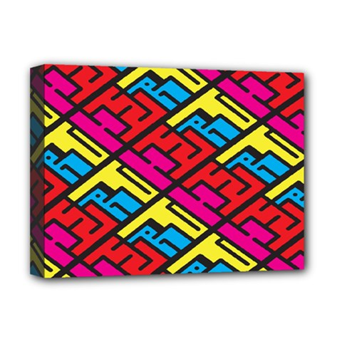 Color Red Yellow Blue Graffiti Deluxe Canvas 16  X 12   by Mariart