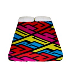 Color Red Yellow Blue Graffiti Fitted Sheet (full/ Double Size) by Mariart