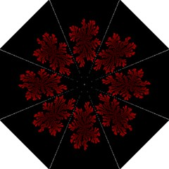 Dendron Diffusion Aggregation Flower Floral Leaf Red Black Folding Umbrellas by Mariart