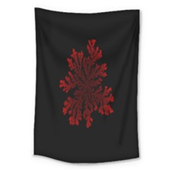 Dendron Diffusion Aggregation Flower Floral Leaf Red Black Large Tapestry by Mariart
