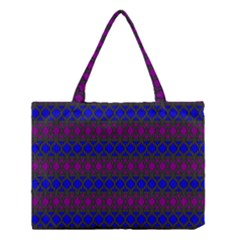 Diamond Alt Blue Purple Woven Fabric Medium Tote Bag by Mariart