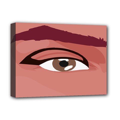 Eye Difficulty Red Deluxe Canvas 16  X 12   by Mariart