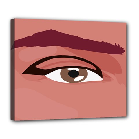 Eye Difficulty Red Deluxe Canvas 24  X 20   by Mariart