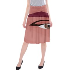 Eye Difficulty Red Midi Beach Skirt