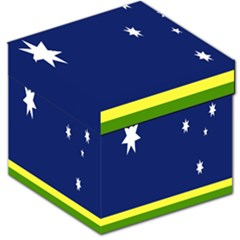 Flag Star Blue Green Yellow Storage Stool 12   by Mariart
