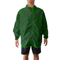 Dendron Diffusion Aggregation Flower Floral Leaf Green Purple Wind Breaker (kids) by Mariart
