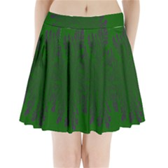 Dendron Diffusion Aggregation Flower Floral Leaf Green Purple Pleated Mini Skirt by Mariart