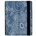 Flower Floral Blue Rose Star Apple iPad 3/4 Flip Case View2