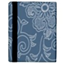 Flower Floral Blue Rose Star Apple iPad 3/4 Flip Case View3