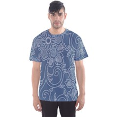 Flower Floral Blue Rose Star Men s Sport Mesh Tee by Mariart