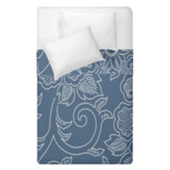 Flower Floral Blue Rose Star Duvet Cover Double Side (single Size) by Mariart