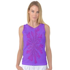 Dendron Diffusion Aggregation Flower Floral Leaf Red Purple Women s Basketball Tank Top by Mariart