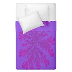Dendron Diffusion Aggregation Flower Floral Leaf Red Purple Duvet Cover Double Side (single Size) by Mariart