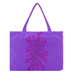 Dendron Diffusion Aggregation Flower Floral Leaf Red Purple Medium Tote Bag by Mariart