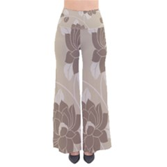Flower Floral Grey Rose Leaf Pants by Mariart