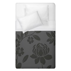 Flower Floral Rose Black Duvet Cover (single Size) by Mariart