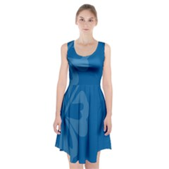 Hibiscus Sakura Classic Blue Racerback Midi Dress by Mariart