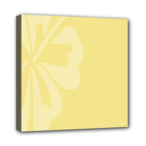 Hibiscus Custard Yellow Mini Canvas 8  X 8  by Mariart