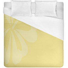 Hibiscus Custard Yellow Duvet Cover (king Size) by Mariart