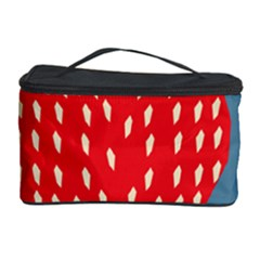 Fruit Red Strawberry Cosmetic Storage Case by Mariart