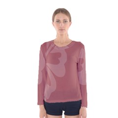 Hibiscus Sakura Red Women s Long Sleeve Tee by Mariart