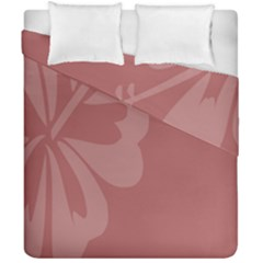 Hibiscus Sakura Red Duvet Cover Double Side (california King Size) by Mariart