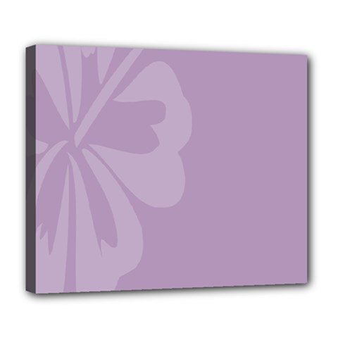 Hibiscus Sakura Lavender Herb Purple Deluxe Canvas 24  X 20   by Mariart