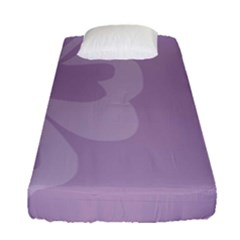 Hibiscus Sakura Lavender Herb Purple Fitted Sheet (single Size) by Mariart