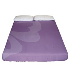Hibiscus Sakura Lavender Herb Purple Fitted Sheet (king Size) by Mariart
