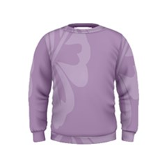 Hibiscus Sakura Lavender Herb Purple Kids  Sweatshirt by Mariart