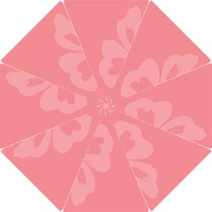 Hibiscus Sakura Strawberry Ice Pink Hook Handle Umbrellas (small) by Mariart