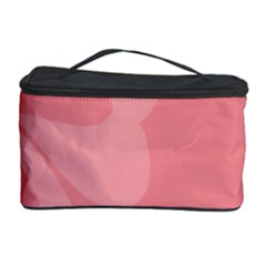Hibiscus Sakura Strawberry Ice Pink Cosmetic Storage Case by Mariart