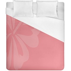 Hibiscus Sakura Strawberry Ice Pink Duvet Cover (california King Size) by Mariart