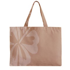 Hibiscus Sakura Toasted Almond Grey Zipper Mini Tote Bag by Mariart