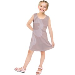 Hibiscus Sakura Toasted Almond Grey Kids  Tunic Dress by Mariart