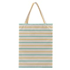 Horizontal Line Yellow Blue Orange Classic Tote Bag by Mariart