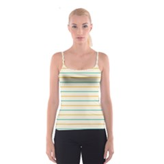 Horizontal Line Yellow Blue Orange Spaghetti Strap Top by Mariart