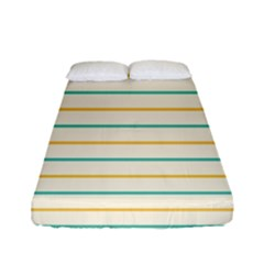 Horizontal Line Yellow Blue Orange Fitted Sheet (full/ Double Size)