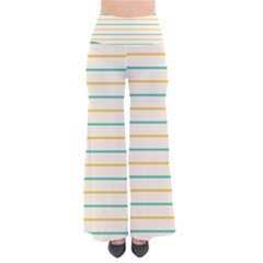 Horizontal Line Yellow Blue Orange Pants by Mariart