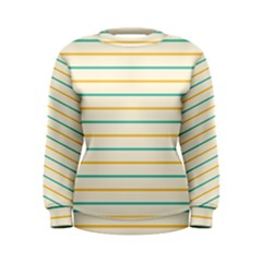Horizontal Line Yellow Blue Orange Women s Sweatshirt by Mariart