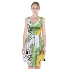 Easter Bunny And Chick  Racerback Midi Dress by Valentinaart