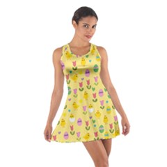Easter   Chick And Tulips Cotton Racerback Dress