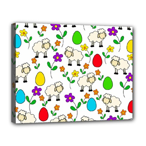Easter Lamb Canvas 14  X 11