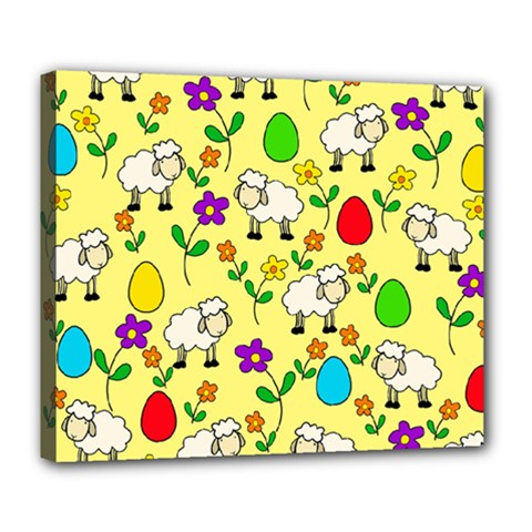 Easter Lamb Deluxe Canvas 24  X 20