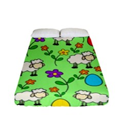 Easter Lamb Fitted Sheet (full/ Double Size) by Valentinaart