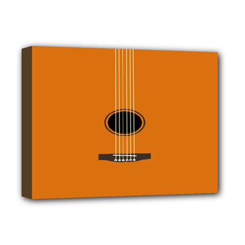 Minimalism Art Simple Guitar Deluxe Canvas 16  X 12   by Mariart
