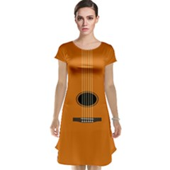 Minimalism Art Simple Guitar Cap Sleeve Nightdress by Mariart