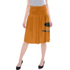 Minimalism Art Simple Guitar Midi Beach Skirt